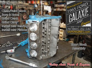 Build short block-Ford Galaxie 5.8L 352