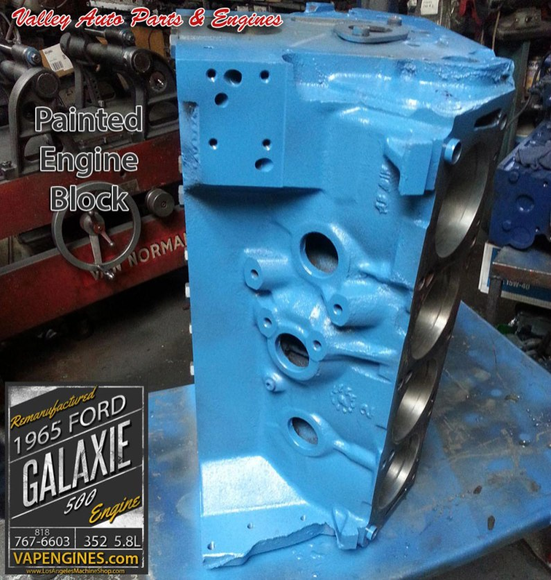 Color coat paint on Ford Galaxie 500 block