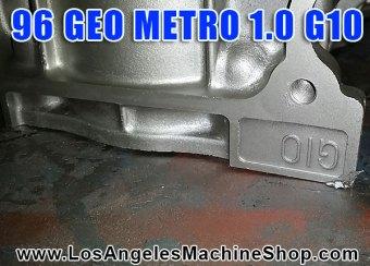 Geo Metro G10 block stamp