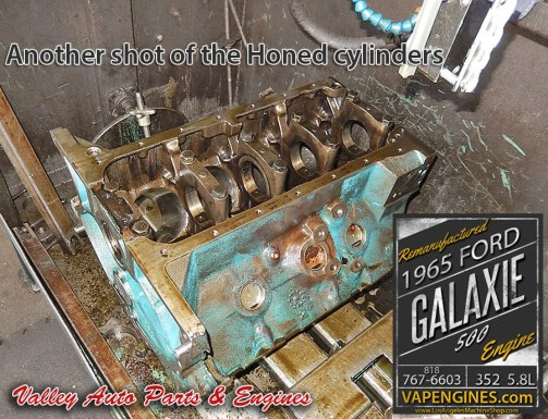Honed Ford Galaxie 352 block