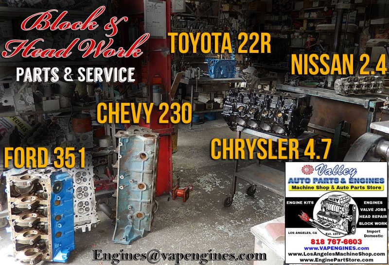 Engine Block and Cylinder Head repair shop-Los Angeles