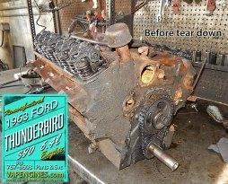 Teardown 1963 Ford thunderbird engine
