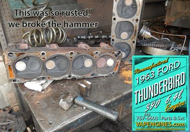 Hammer breaks on Ford 390 teardown