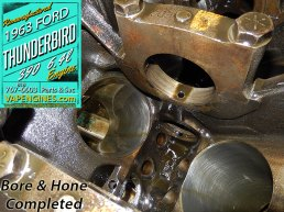 Bore and honed ford 390 cylinders