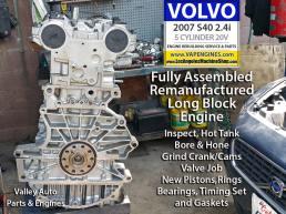 07 Remanufactured Volvo S40 engine