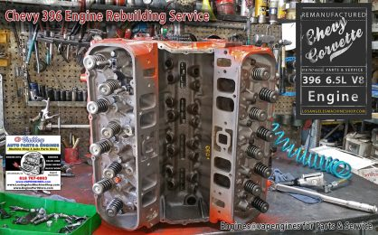 Chevy 396 engine rebuild shop