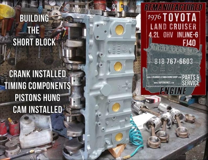 76 Toyota Land Cruiser FJ40 4.2 Inline 6 rebuilding the Short Block.