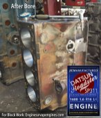 Datsun Roadster 1600 bored engine block