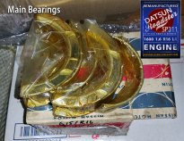 Datsun Roadster 1600 R16 Main bearings