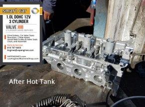 Smart car 1.0 DOHC L3 cylinder head