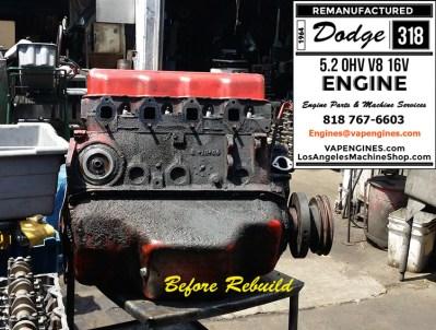 64 Dodge 318 before engine rebuild