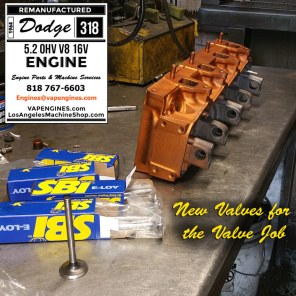 dodge 318 new valve cylinder head