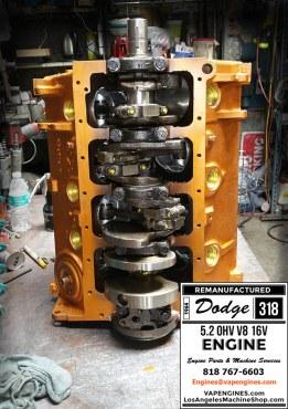 Short Block Engine Dodge 318