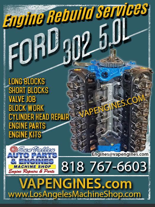 Ford 302 Engine Rebuild Shop