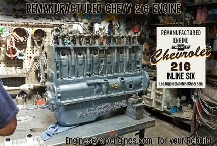 Remanufactured Chevy 216 Engine Builder