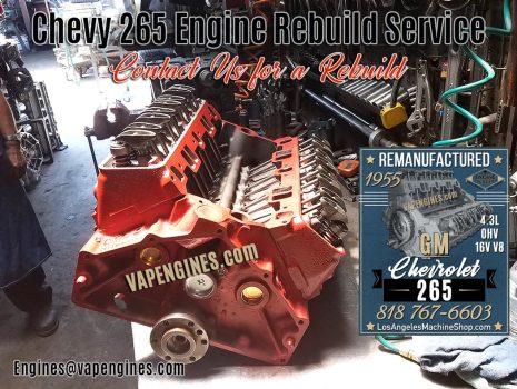 Rebuilt Remanufactured GM Chevy 265 engine