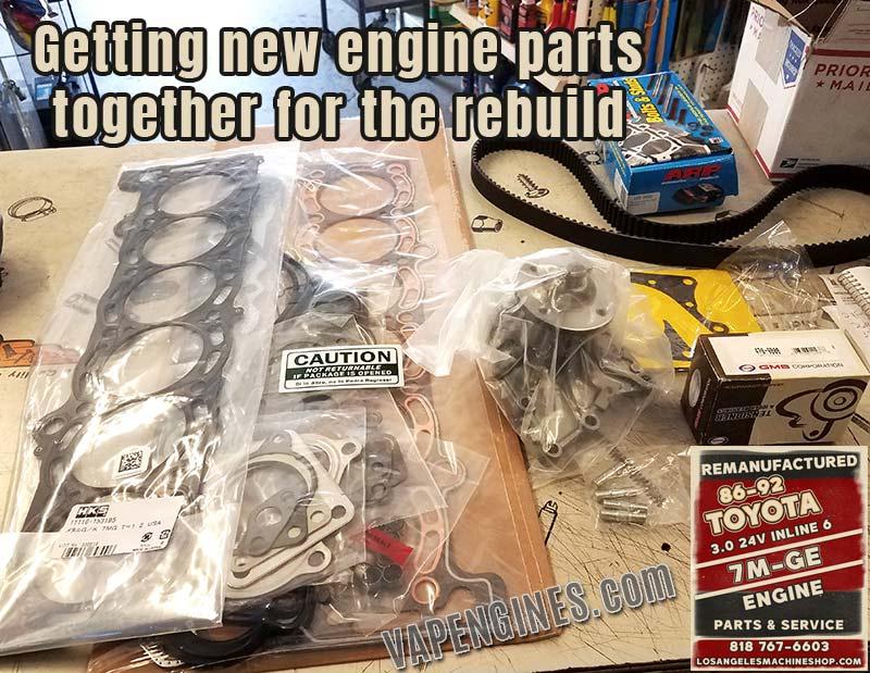 Toyota 7M-GE 3.0 L6 Engine Rebuild Parts