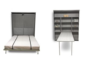 Compatto – Wall bed Revolving Bookcase with Table di Expand Furniture