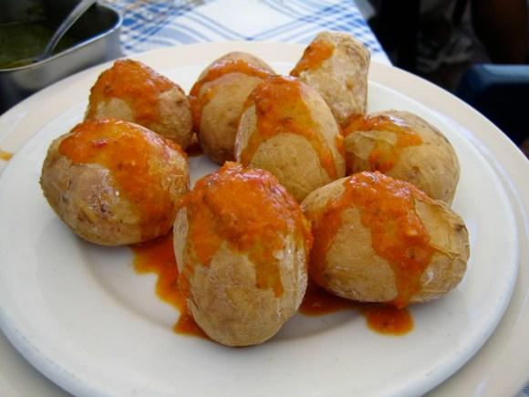 cocina canaria - papas con mojo