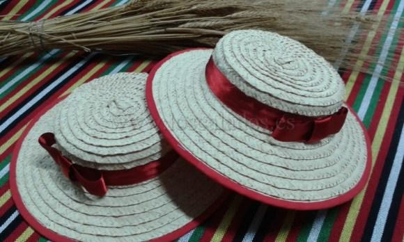 Sombrero artesano traje típico de La Orotava, de palma trenzada