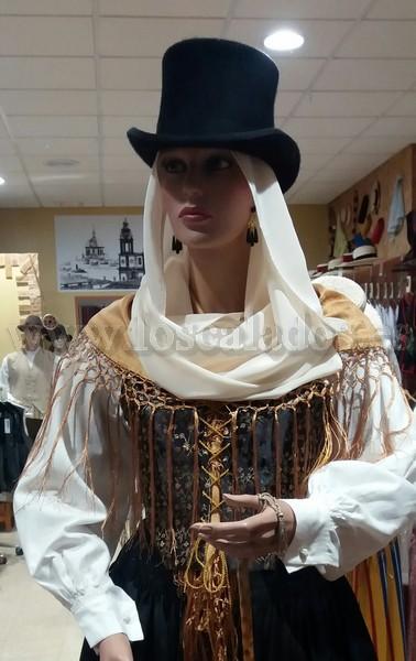 Chistera del traje de señora de La Palma