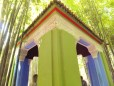 A shelter in the Jardin Majorelle, gardens which were owned by Yves Saint Laurent.