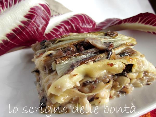 Risultati immagini per immagine lasagne al ragu' con radicchio
