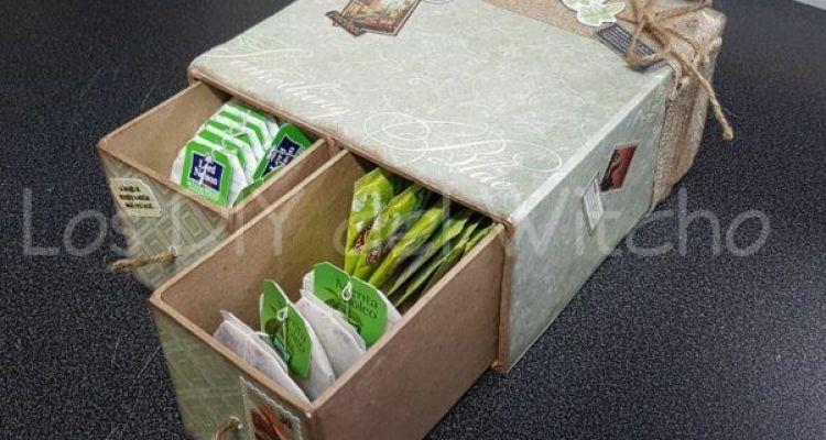 DIY… Cómo hacer una caja de té de Scrapbooking