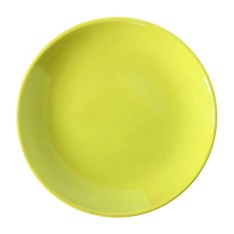 yellow plate isolated on white with clipping path