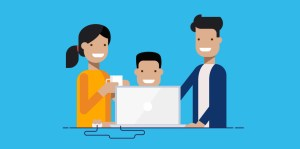 family-with-computer