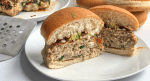 Healthy spinach turkey burgers