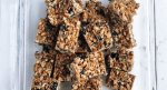 Tray of healthy grain-free granola bars