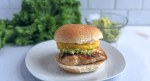 Grilled chicken and pineapple sandwich with guacamole