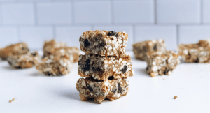 Stack of healthy grain-free granola bars