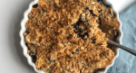 Lightened Up Blueberry peach crisp