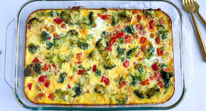 Baked overnight veggie casserole