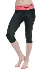 Coral and Black Lycra Exercise Wear