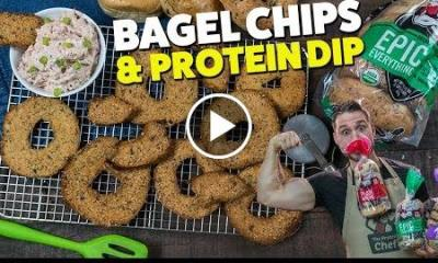 Bagel Chips and Protein Dip