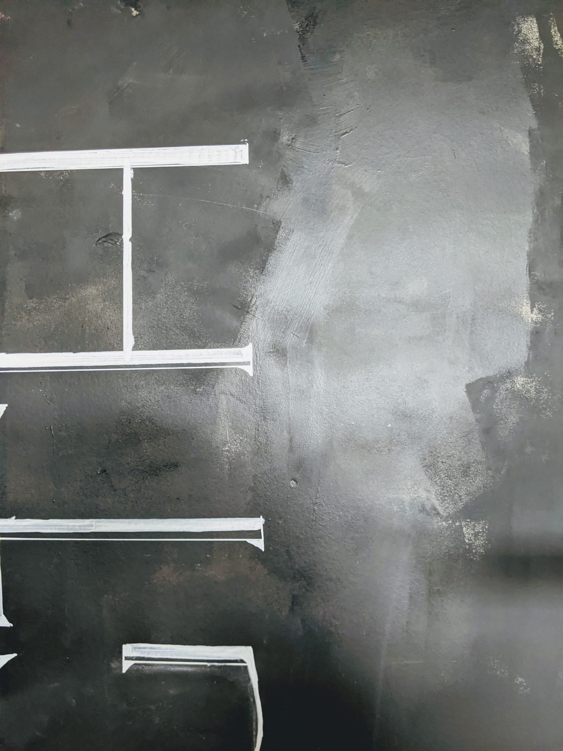 manly chalk wall font