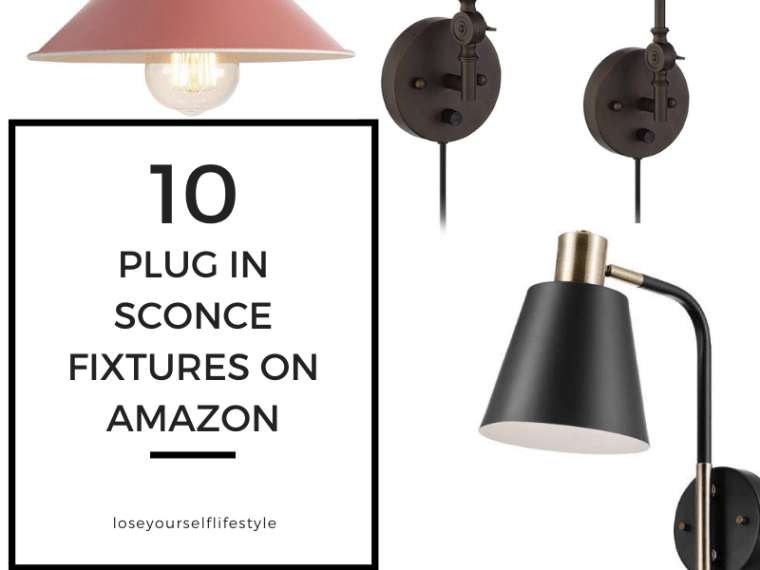 affordable plug in wall sconce