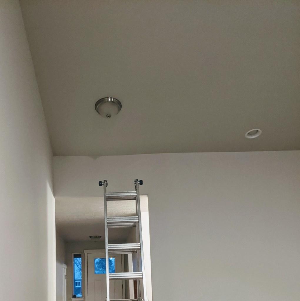 flush mount light next to a can light