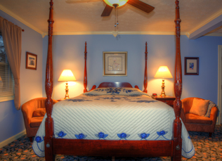 inside photo of the blue suite