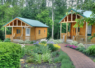outside photo of the cabins