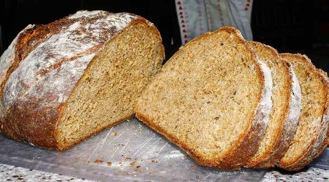 Spent-grain bread