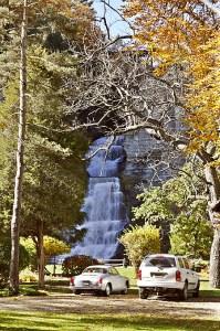 Glenora Falls in Autumn