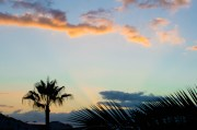 Sun setting over Los Gigantes, Tenerife