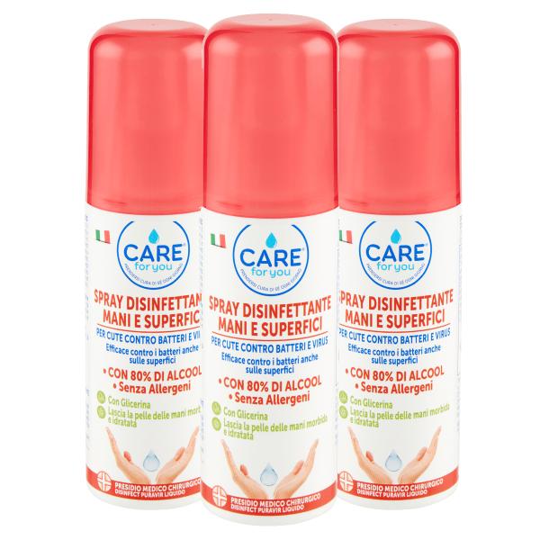 Spray Disinfettante Mani e Superfici