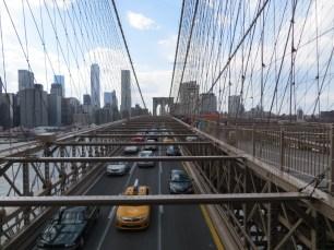 Empieza a congestionarse el puente de Brooklyn