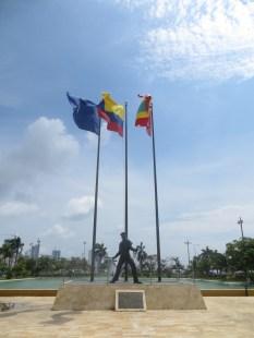 Homenaje al marinero colombiano en el Parque de la Marina