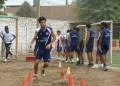 El delantero Lucas Ballón en pleno entrenamiento